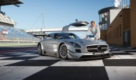 Mika Hakkinen with a Mercedes SLS AMG GT3