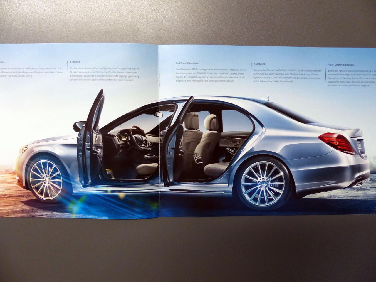 New details on the 2014 Mercedes S-Class surface