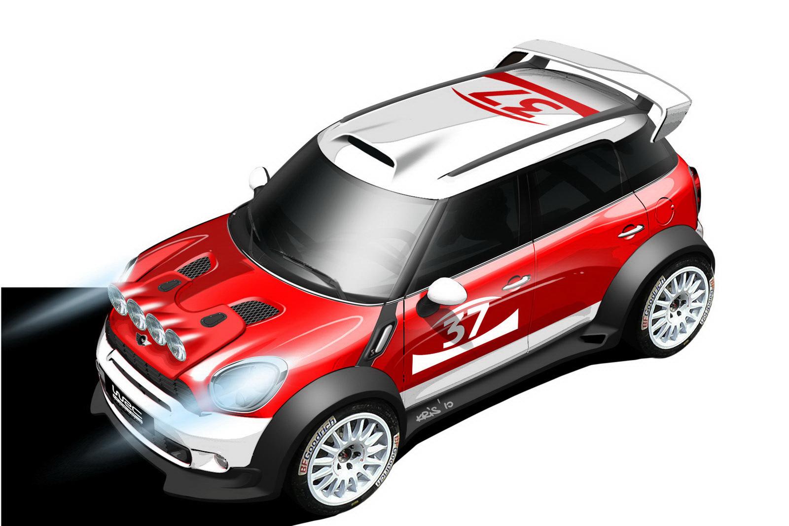 Mini Countryman WRC racer