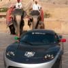 Tesla Roadster Round the World