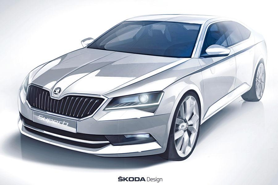 Skoda Superb sketch
